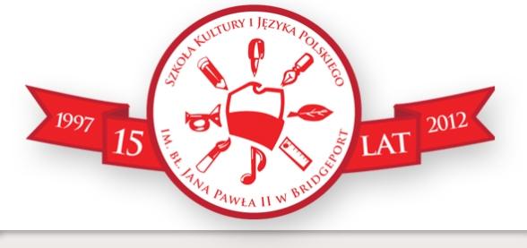 Logo Jubileuszu 15-lecia Polskiej Szkoły w Bridgeport