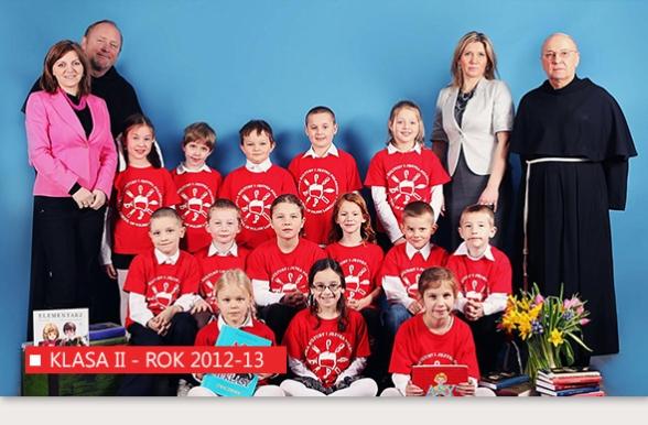 Klasa II Polskiej Szkoły w Bridgeport w roku 2012-13