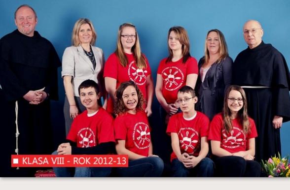 Klasa VIII Polskiej Szkoły w Bridgeport w roku 2012-13